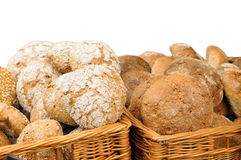 Traditional bread in baskets Royalty Free Stock Photo