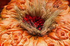 Traditional bread and decoration from Maramures area, Romania stock photo