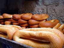 Traditional bread in Jerusalem. Food background Middle East holy land Stock Images