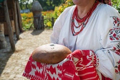 Traditional bread and salt welcome Royalty Free Stock Photography