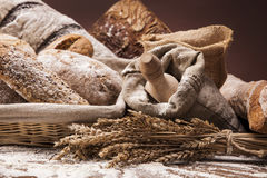 Traditional bread set Stock Images