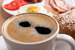 Traditional breakfast with coffee royalty free stock image