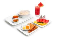 Rice porridge with milk Stock Photos