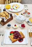 Traditional Breakfast in the luxury hotel Stock Images