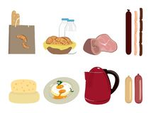 Traditional breakfast set Stock Image