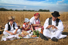 Traditional breakfast of wheat field Stock Photos