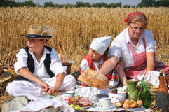 Traditional breakfast of wheat field Royalty Free Stock Photos