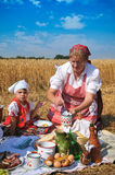 Traditional breakfast of wheat field Royalty Free Stock Image