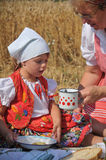 Traditional breakfast of wheat field Royalty Free Stock Images
