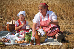 Traditional breakfast of wheat field Royalty Free Stock Photography
