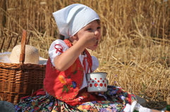 Traditional breakfast of wheat field Stock Images