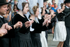 Traditional breton festival in beuzec Royalty Free Stock Image