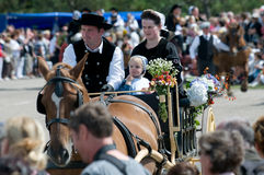 Traditional breton festival in beuzec Stock Photography