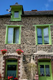 Traditional breton houses Royalty Free Stock Photos