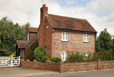 Traditional Brick And Flint English Cottage Royalty Free Stock Photos