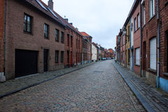 Traditional brick houses in Bruges Stock Images