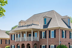 Traditional Brick Office Building with Dormers Royalty Free Stock Image