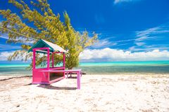 Traditional bright Caribbean houses on shore Royalty Free Stock Images