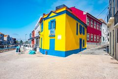 Traditional house facade in Aveiro, Portugal Royalty Free Stock Image