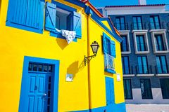 Traditional house facade in Aveiro, Portugal Royalty Free Stock Photo
