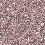 Seamless colorful pattern with paisleyand flowers. Traditional bright ethnic ornament,. Vector print. Use for wallpaper, pattern fills,textile design Royalty Free Stock Images