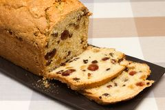 Traditional fruit loaf A traditional British fruit loaf royalty free stock photo