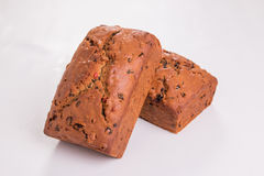 Traditional British fruit loaves  on a pale background Royalty Free Stock Photography