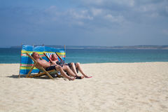 Traditional British Holidaymakers stock photography