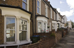 Traditional British houses facade in the suburbs of Woolwich Stock Photos