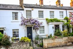 Traditional British Houses in Richmond, near London, UK. Architecture in Richmond, London, United Kingdom stock photo