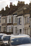 Traditional british houses in a row Royalty Free Stock Images