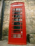 Traditional British Phone Box Royalty Free Stock Photography