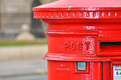Traditional British post box Royalty Free Stock Images