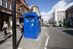 Traditional British public call police box royalty free stock photo