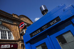 Traditional British public call police box Royalty Free Stock Images