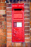 Traditional British Red Letterbox Stock Photography