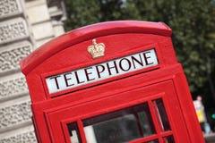 Traditional British red telephone box, London, UK Stock Images