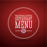 Traditional British restaurant menu Royalty Free Stock Image