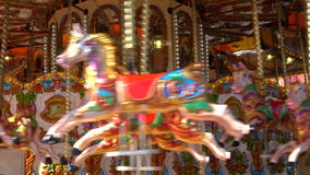 Traditional british victorian merry-go-round stock footage