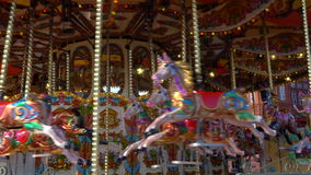 Traditional british victorian merry-go-round stock video footage