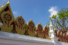 Traditional buddhism temple fence Stock Photography