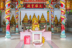 Traditional Buddhist church on Koh Phangan, Thailand Stock Photo