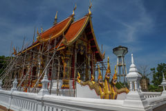 Traditional Buddhist Church in Renovation Royalty Free Stock Photography