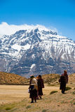 Traditional Buddhist Pilgrims Mountain Dhankar Royalty Free Stock Photos