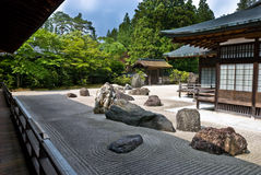 Traditional Buddhist rock garden Royalty Free Stock Photo