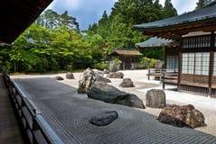 Traditional Buddhist rock garden. Rock garden in a Buddhist temple in Koya-san, Japan Royalty Free Stock Photo