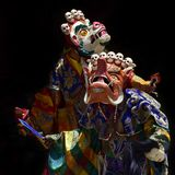 Traditional Buddhist sacred dance Cham, Dance in Lama Masks is high tantric initiation. Traditional Buddhist sacred dance Cham, Dance in Lama Masks is a high Stock Image