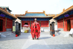 Traditional Buddhist temple, Beijing, China Stock Image