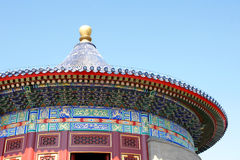 Traditional building. Beijing Temple of Heaven building local Stock Images