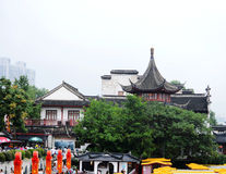 traditional building by bank of Qinhuai river Royalty Free Stock Photo